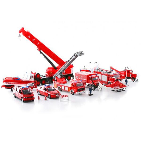 """Welly 99610-20B Велли Игровой набор машин """"Пожарная служба"""" 20 шт"""
