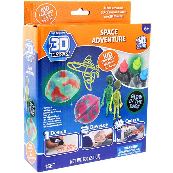 """3D Magic 83010 Набор формочки + гели 3D Maker """"Инопланетяне"""""""