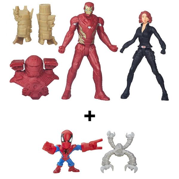 Hasbro Avengers B6431N Марвел разборные микро-фигурки + набор из 2 фигурок Мстителей