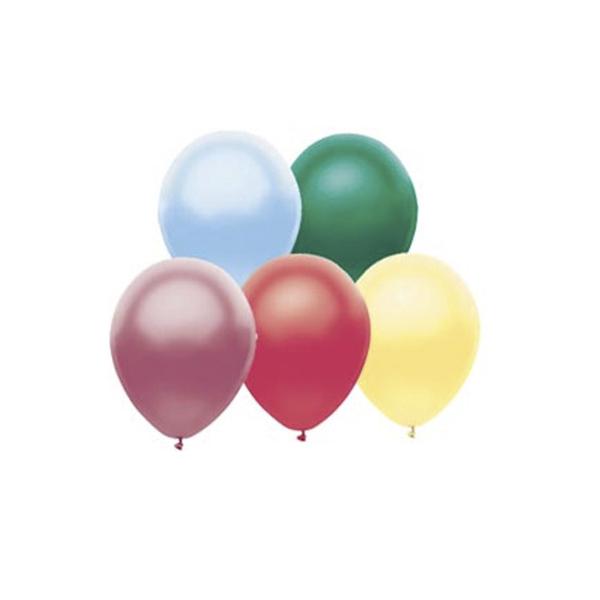 Веселая Затея Набор шаров Металлик 25 см 10 шт