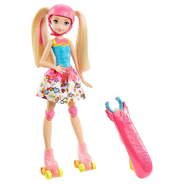 Barbie Кукла на роликах из серии Barbie и виртуальный мир