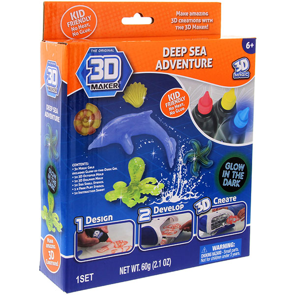"""3D Magic 82010 Набор формочки + гели 3D Maker """"Глубоководный мир"""""""