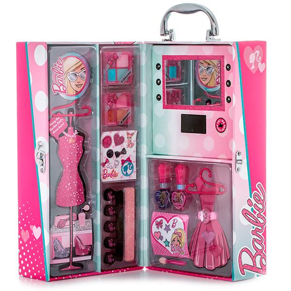 Markwins Barbie Набор детской декоративной косметики в чемодане с подсветкой