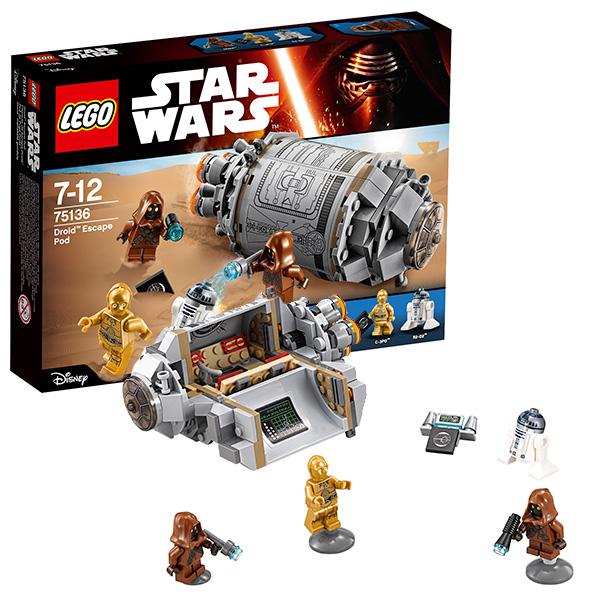 Lego Star Wars 75136 Лего Звездные Войны Спасательная капсула дроидов
