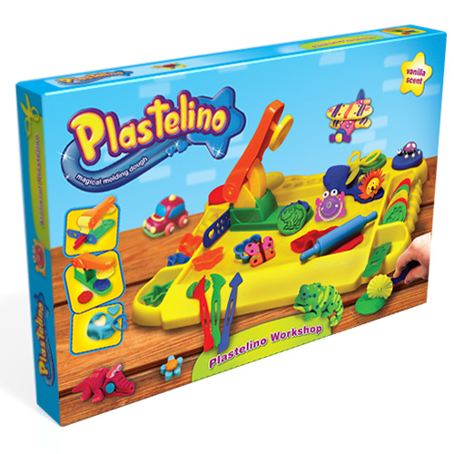 Набор Plastelino NOR3257 Пластелино Мастерская - масса для лепки + аксессуары