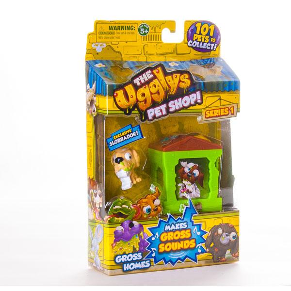 Игрушка UGGLYS PET SHOP 19411 Аглис Пет Шоп Игровой набор домик + фигурка в ассортименте