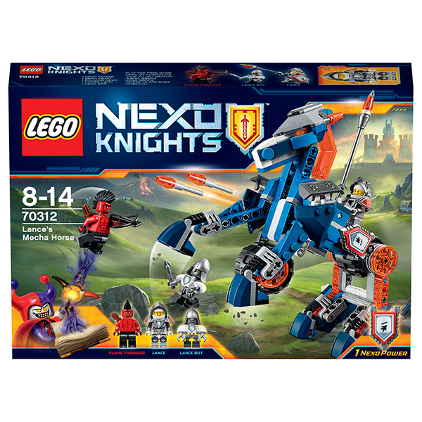 Lego Nexo Knights Лего Нексо Ланс и его механический конь