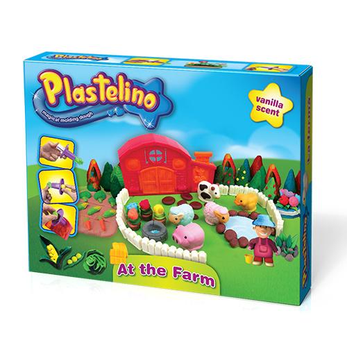 Масса для лепки Plastelino NOR2670 Пластелино Ферма + аксессуары
