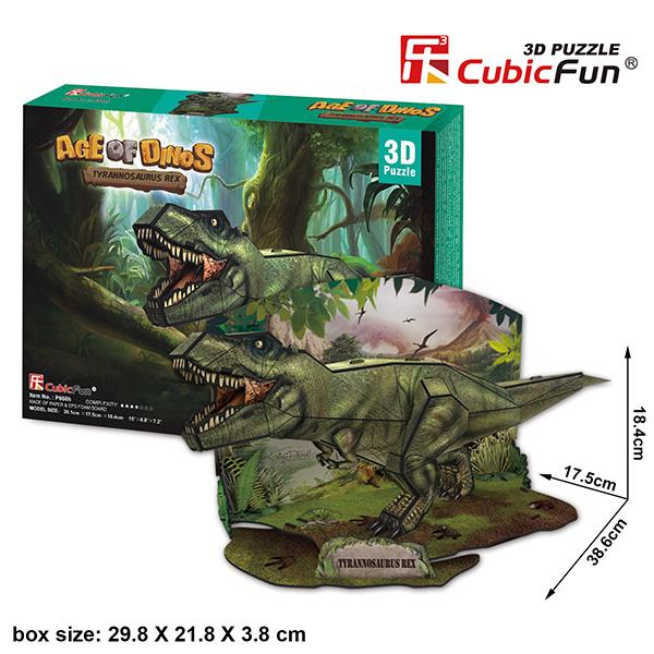 Cubic Fun P668h Кубик фан Эра Динозавров Тираннозавр