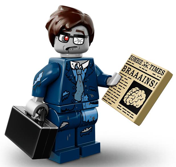 Лего серия 14 минифигурка Зомби-Бизнесмен