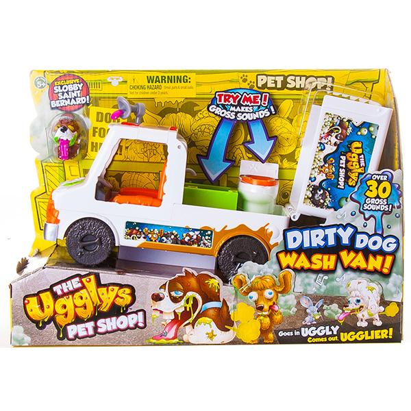 UGGLYS PET SHOP 19408 Аглис Пет Шоп Игровой набор Вэн - мойка для питомцев + фигурка