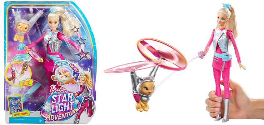 Кукла Барби с летающим котом Попкорном