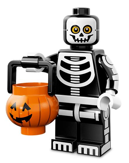 Лего серия 14 минифигурка Парень-Скелет
