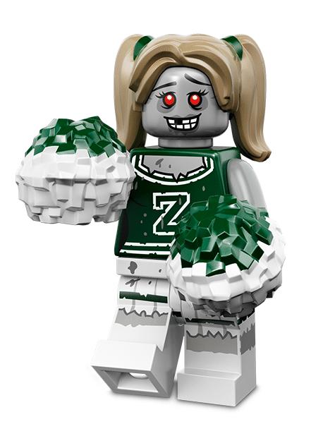 Лего серия 14 минифигурка Зомби-Чирлидер