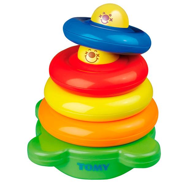 TOMY PlasticToys T6634 Томи Развивающие игрушки Веселая Пирамидка