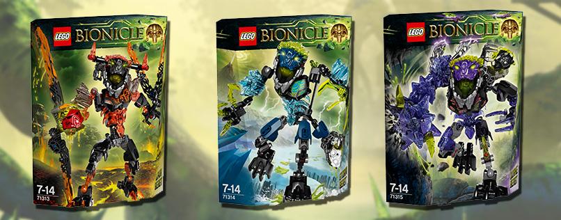 Новинки Lego Bionicle Стихийные Монстры