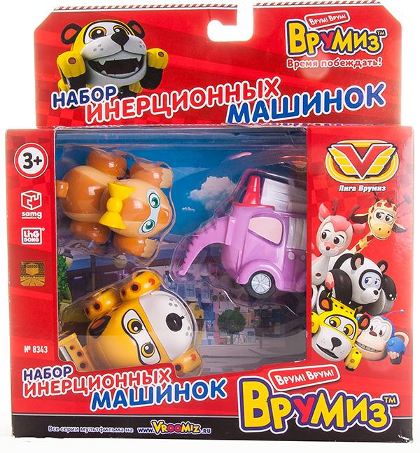 Vroomiz V8343 Врумиз Набор инерционных машинок - Спиди, Софи, Слон пожарный