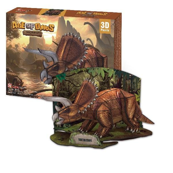 Игрушка Cubic Fun P669h Кубик фан Эра Динозавров Трицератопс