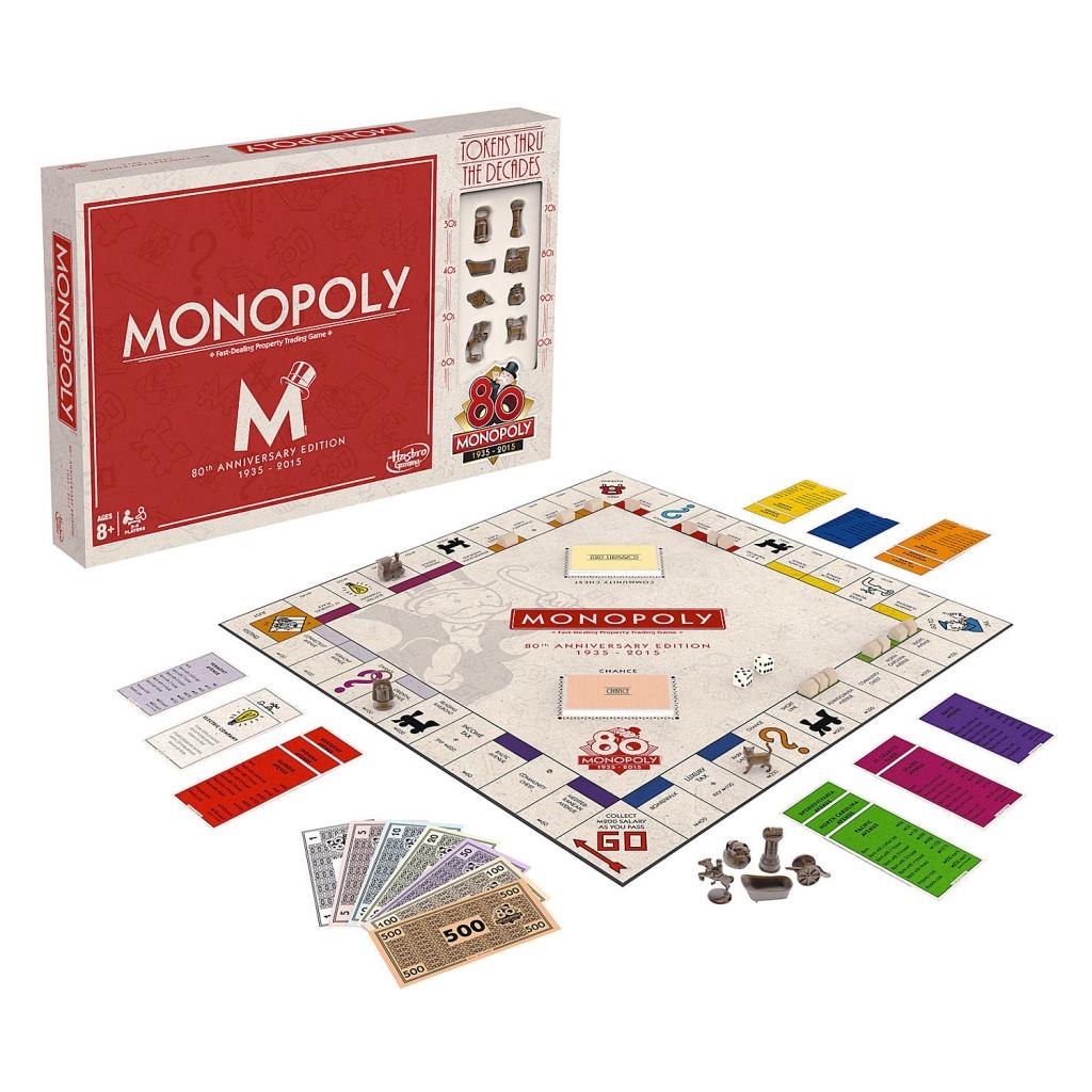 Monopoly B0622 Юбилейный выпуск Монополии 80 лет