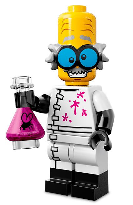 Лего серия 14 минифигурка Безумный учёный