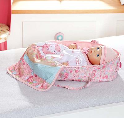 Baby Annabell 794-340 Бэби Аннабель Кроватка переноска для куклы 36 см