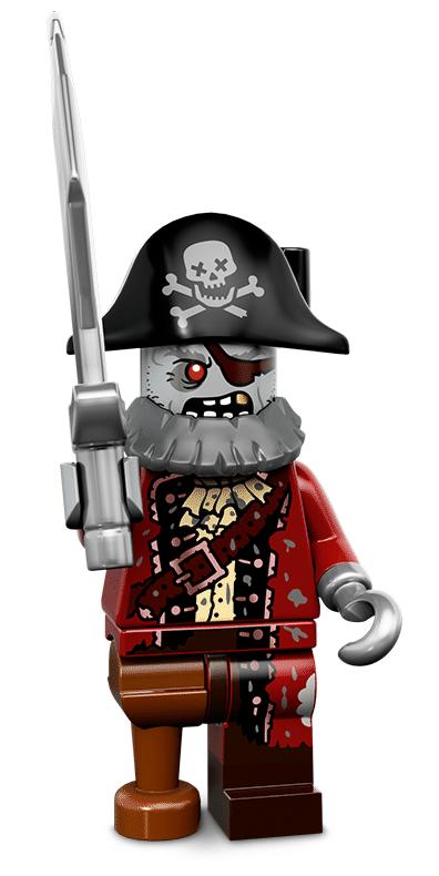Лего серия 14 минифигурка Пират-Зомби