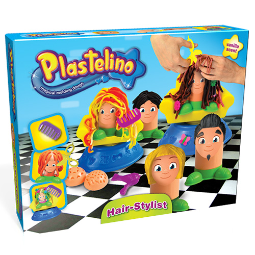 Набор Plastelino NOR3301 Пластелино Парикмахерская - масса для лепки + аксессуары