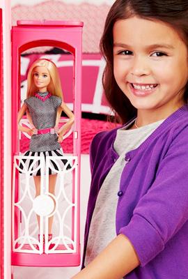 Дом мечты Барби лифт