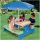 Little Tikes 629952 Литл Тайкс Большой стол с двумя скамейками и зонтом