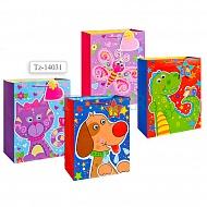 Пакет подарочный бумажный, 4 вида в ассортименте TZ14031 (32*26*12 см)
