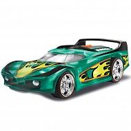Hot Wheels HW90532 Машинка Хот вилс на батарейках свет+звук электромеханическая, зеленая 25 см