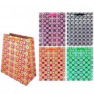 Пакет подарочный бумажный СПЕКТР, 4 цвета в ассортименте TZ9452 (29*21*10 см)