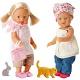 Zapf Creation my mini Baby born 812-877 Бэби Борн Кукла-девочка и животное на ферме, 4 асс.