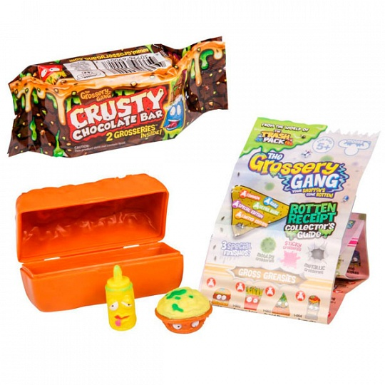 Grossery Gang 2 фигурки, упаковка в виде шоколадного батончика