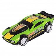 Hot Wheels HW90563 Машинка Хот вилс на батарейках со светом механическая, зеленая 14 см