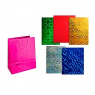 Пакет подарочный голография TZ9495 32*45*11, 6 цветов ассортименте