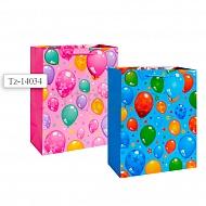 Пакет подарочный бумажный, 2 вида в ассортименте TZ14034 (32*26*12 см)
