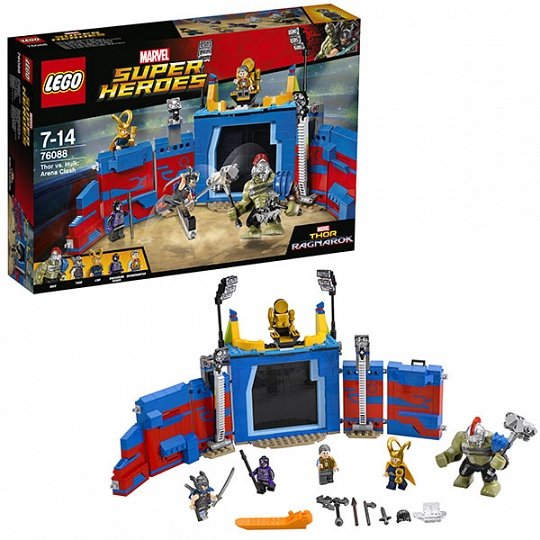 Lego Super Heroes Тор против Халка: Бой на арене 76088