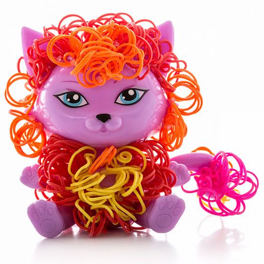 Crazy Loom Набор для творчества - фигурка Котик+ цветные резиночки