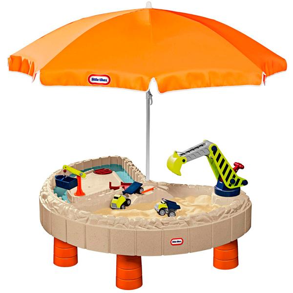 Little Tikes 401N Литл Тайкс Стол-песочница с зонтом и зоной для воды