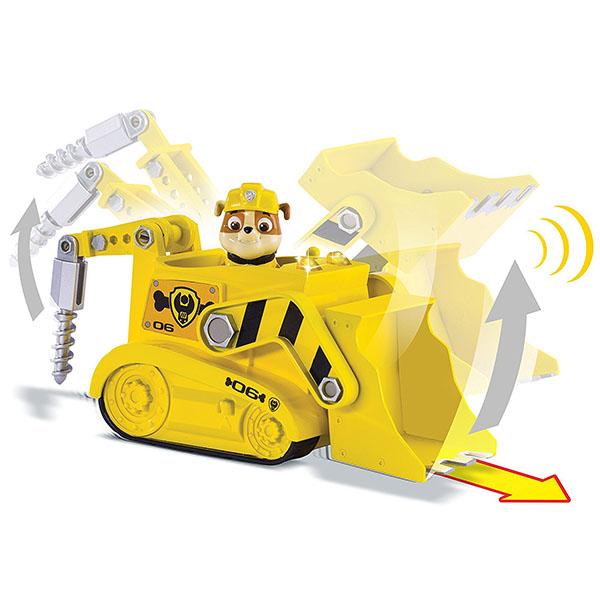 Paw Patrol 16704-y Щенячий патруль Машина-трансформер со звуком желтая