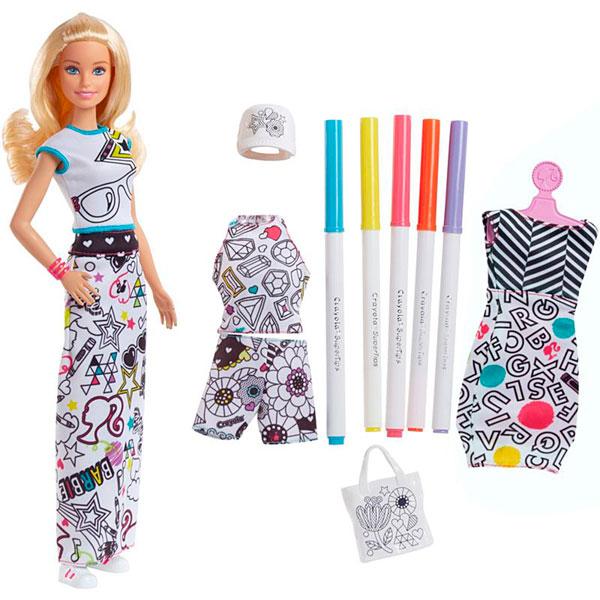 Фото - Mattel Barbie FPH90 Барби + Crayola одежда-раскраска набор школьниика barbie