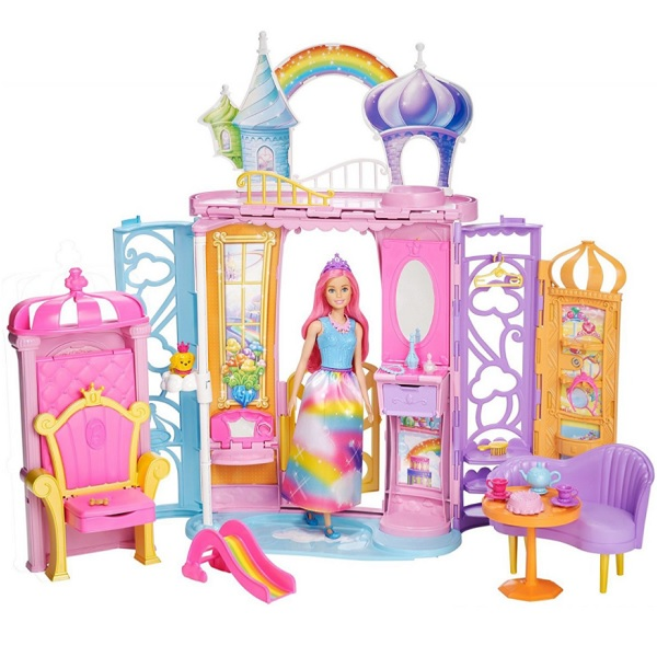 Mattel Barbie FTV98 Барби Переносной радужный дворец mattel barbie dmb27 барби сестра barbie с питомцем