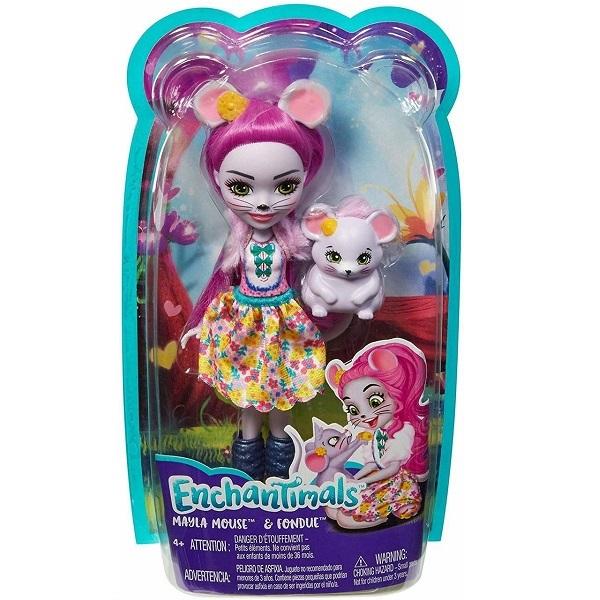 Mattel Enchantimals FXM76 Кукла с питомцем Мышка Майла