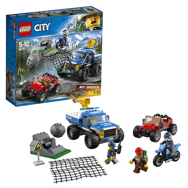 LEGO City 60172 Конструктор ЛЕГО Город Погоня по грунтовой дороге конструктор lego 60172 погоня по грунтовой дороге 297 элементов