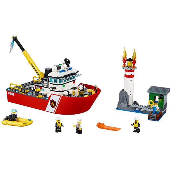 LEGO City 60109 Конструктор ЛЕГО Город Пожарный катер