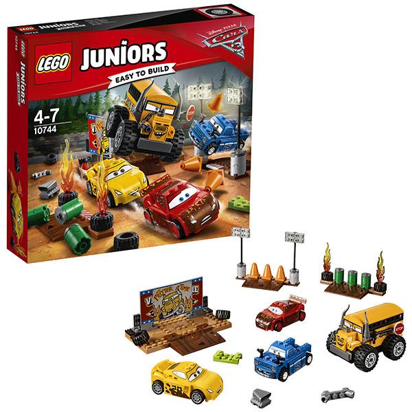 Lego Juniors 10744 Лего Джуниорс Тачки Гонка Сумасшедшая восьмерка lego juniors 10739 лего джуниорс ниндзяго нападение акулы