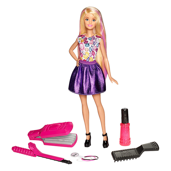 Mattel Barbie DWK49 Барби Игровой набор Цветные локоны new ratchet cable wire cutter cut up to 240mm hs 325a