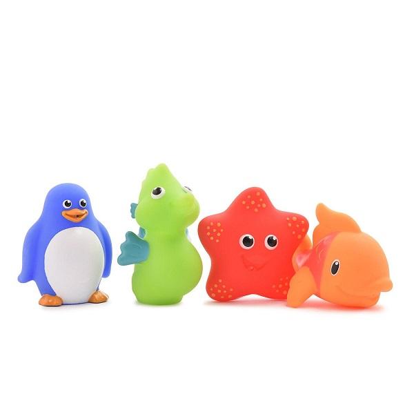 MUNCHKIN 11103 Игрушки для ванны Морские животные 4 шт игрушки для ванны babyono игрушки для ванной животные средние 4 шт