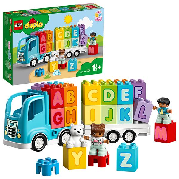 цена LEGO DUPLO 10915 Конструктор ЛЕГО ДУПЛО Грузовик Алфавит онлайн в 2017 году